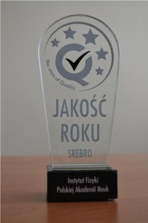 Nagroda JAKOŚĆ ROKU SREBRO