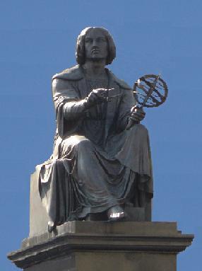 Copernicus monument in Warsaw