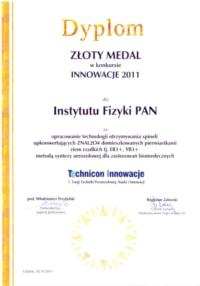 Dyplom Technicon Innowacje VII 1