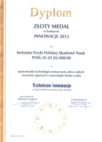 Dyplom Technicon Innowacje VIII 1