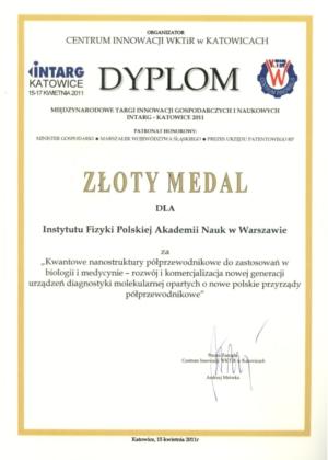 Dyplom Intarg Katowice 2011