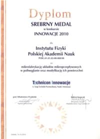 Dyplom Technicon Innowacje VI 1