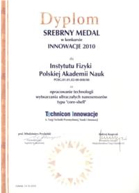 Dyplom Technicon Innowacje VI 2